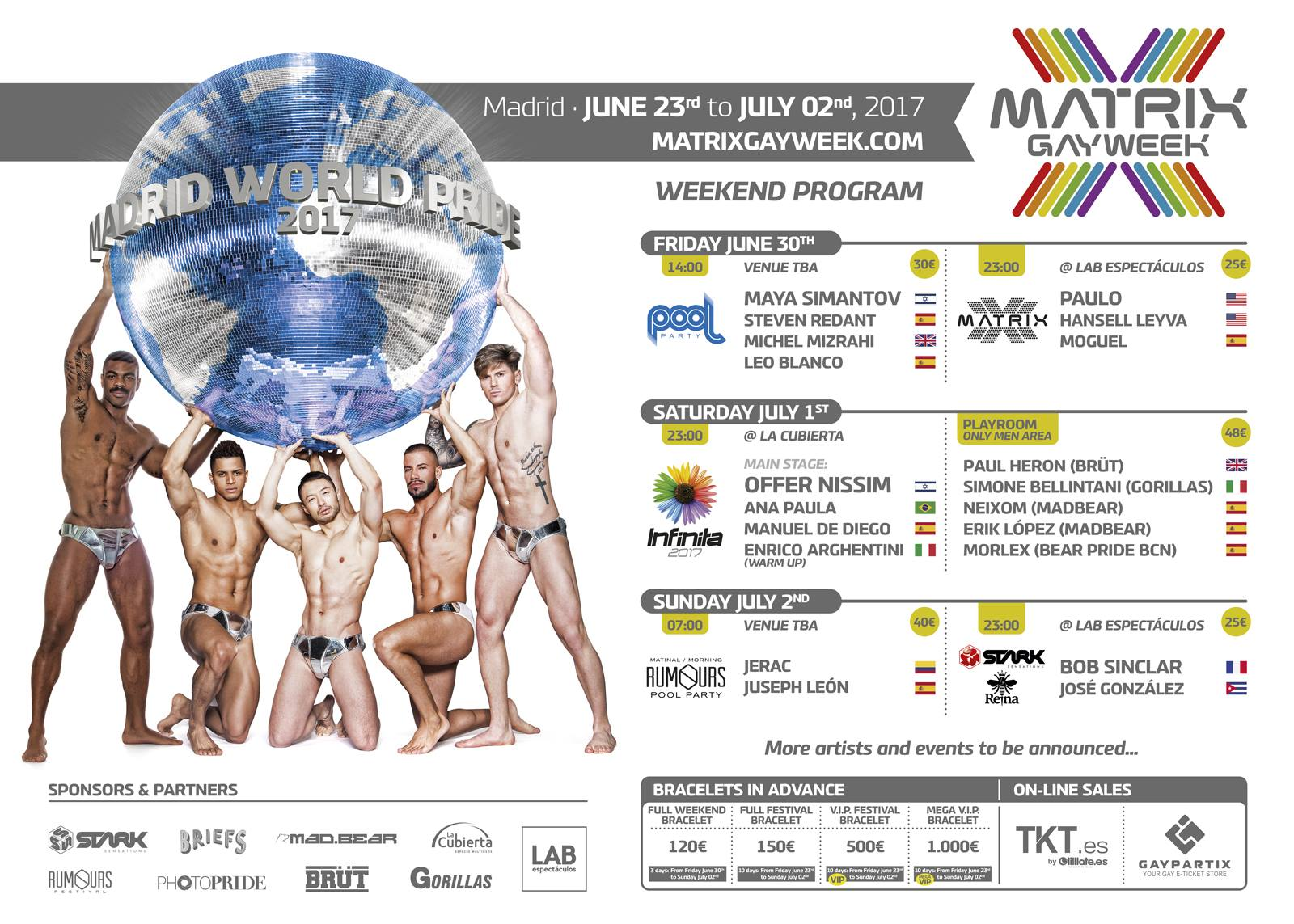 Programación Matrix Gay Week