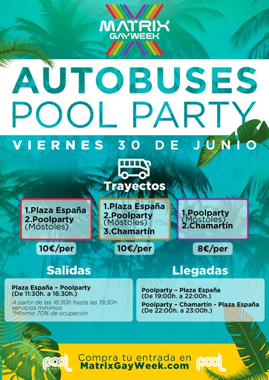 autobuses pool party