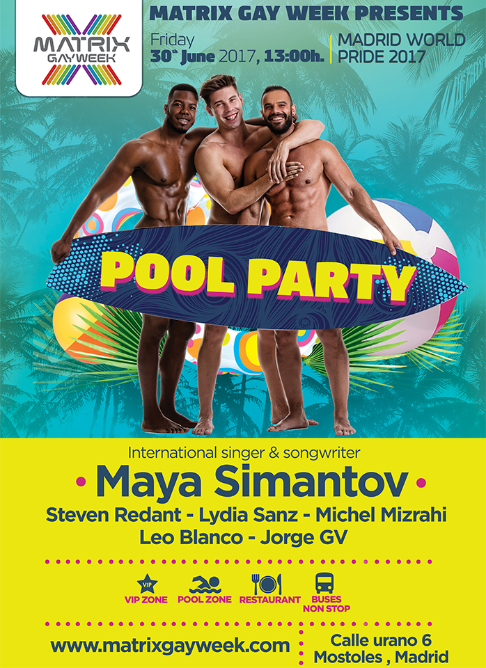 The first Pool Party of the World Pride Madrid 2017