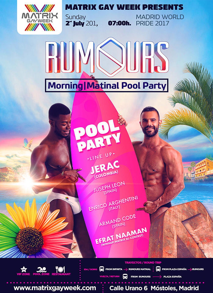 La Pool Party de Rumours será muy especial